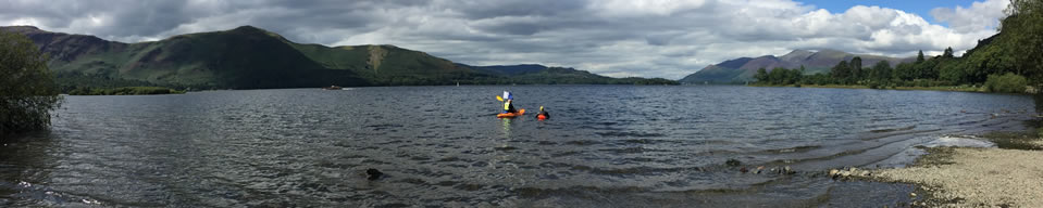 Guided swim in Derwentwater