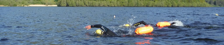 Swimmers in Derwentwater